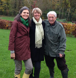 Rebecca Haller with Anne and Jean-Paul Ribes