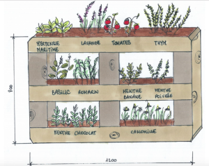 Julie Girard's project includes original planter boxes.