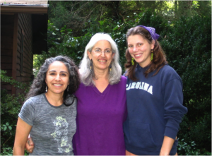From left to right, Christene Tashjian, herbalist Suki Roth and group assistant Amy.