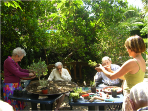 A gardening workshop in a retirement home.
