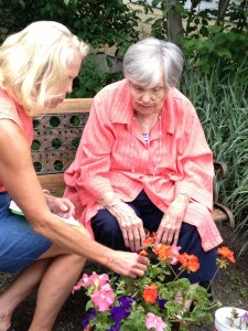 Working with clients as part of the garden team is important.